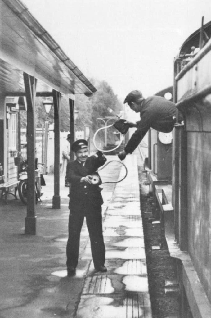 Horsmonden Railway Station Signal Man and Driver
