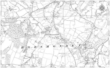 Old Horsmonden map