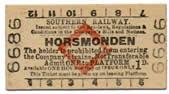 horsmonden platform ticket
