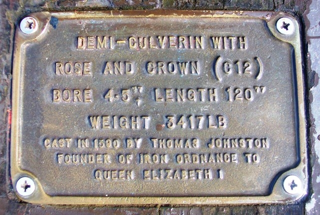 Thomas Johnson Demi Culverin marker plate